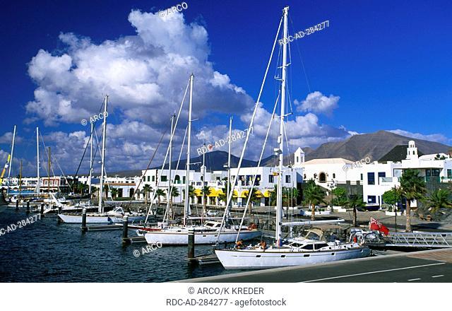 Marina of Playa Blanca, Lanzarote, Canary Islands, Spain