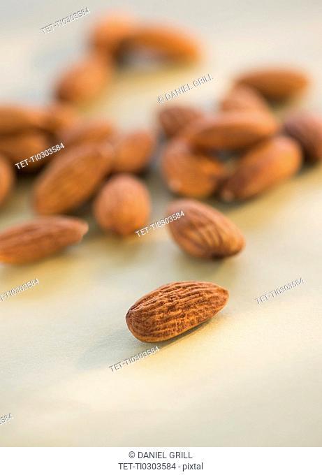 Studio Shot of almonds