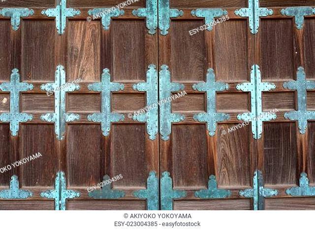 Door of Japanese old temple