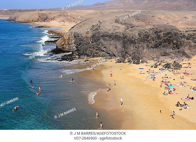 Playas Papagayo, Del Pozo and Mujeres, Los Ajaches. Lanzarote Island, Las Palmas, Canary Islands, Spain
