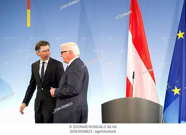 German Foreign Minister Steinmeier receives Austrian counterpart