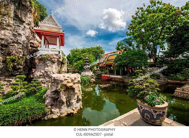 Khao Mo (Miniature Hill), part of the Wat Prayurawongsawat Temple, Bangkok, Thailand