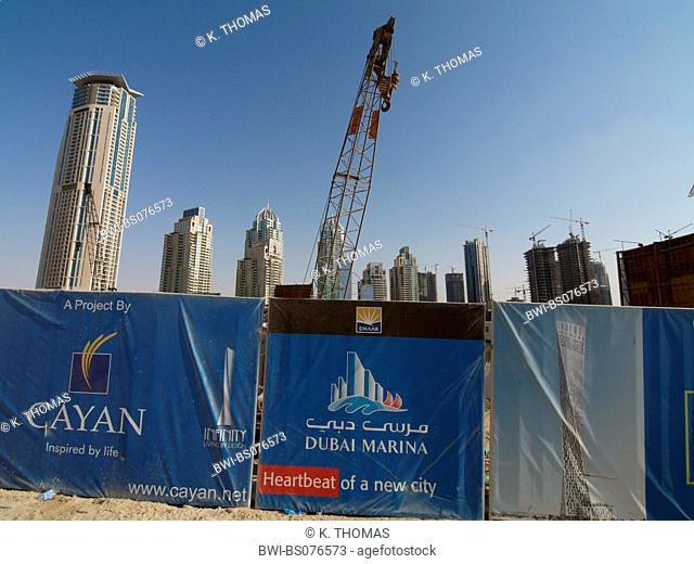 Dubai Marina, construction site, United Arab Emirates, Dubai