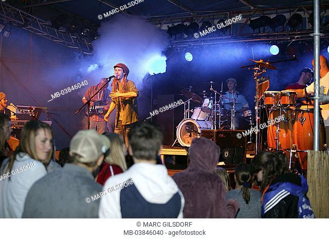 Concert, reggae-band 'Jahcoustix', idea, public not freely for tourism, music, festival, Open air, musicians, singers, artists, reggae, reggae-singers, show