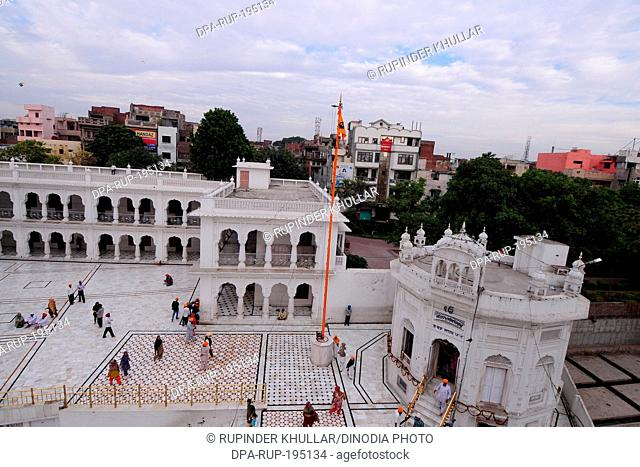 Nishaan sahib golden temple, amritsar, punjab, india, asia