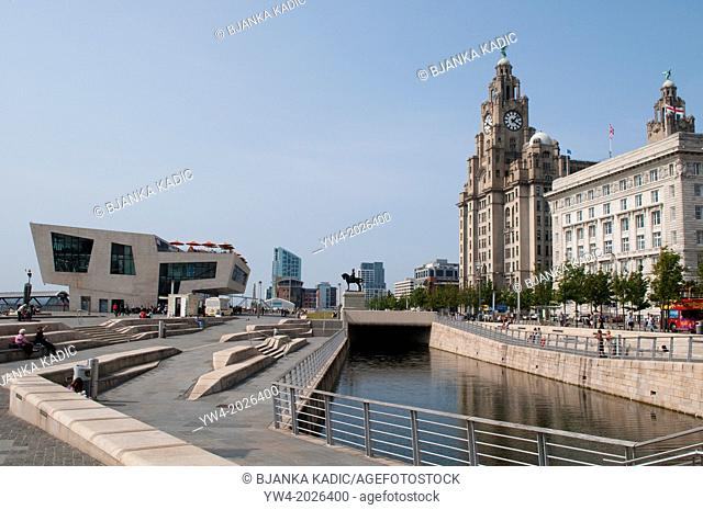 Liverpool Canal Link, Pier Head, Liverpool, UK