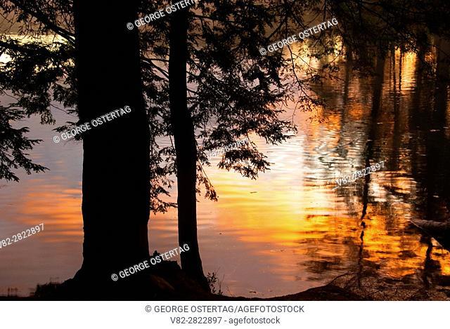 Lowell Lake sunrise, Lowell Lake State Park, Vermont