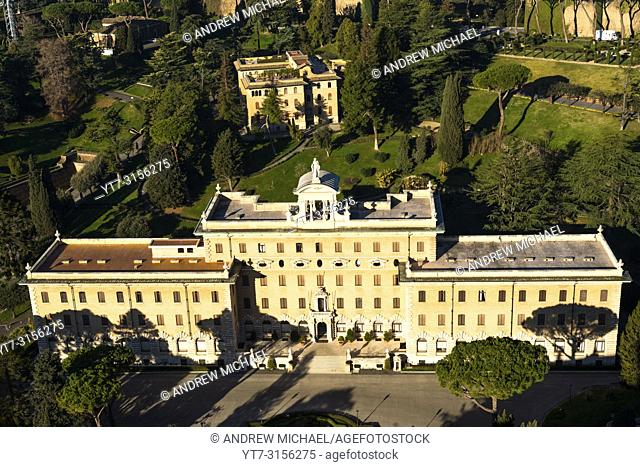 Aerial view of Palace of the Governorate palace, Vatican city, Rome, Italy