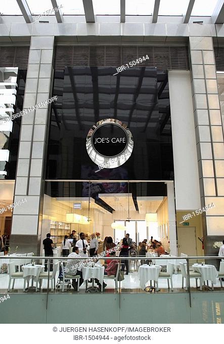 Joe's Cafe in the Fashion Avenue, with 70 international stores dedicated to haute couture, Dubai Mall, Dubai, United Arab Emirates, Middle East