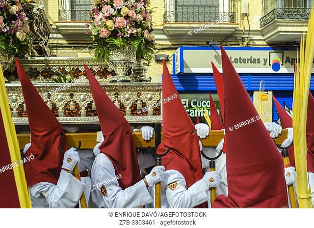 Cuenca, Spain.14 th April, 2019. Parade procession Palm Sunday Hosanna on 14 th April 2019