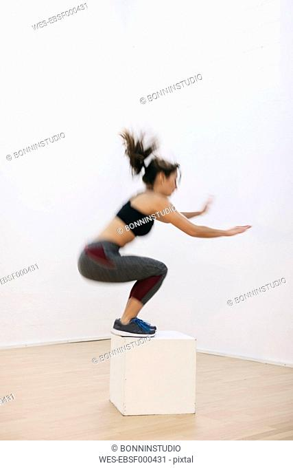 Woman doing fitness workout