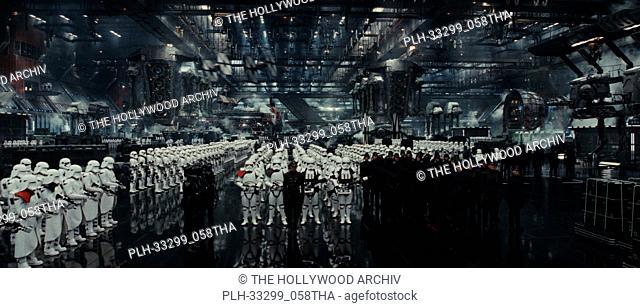 """""""""""""""Star Wars: The Last Jedi"""""""" (2017) First Order hangar. Lucasfilm Ltd"""