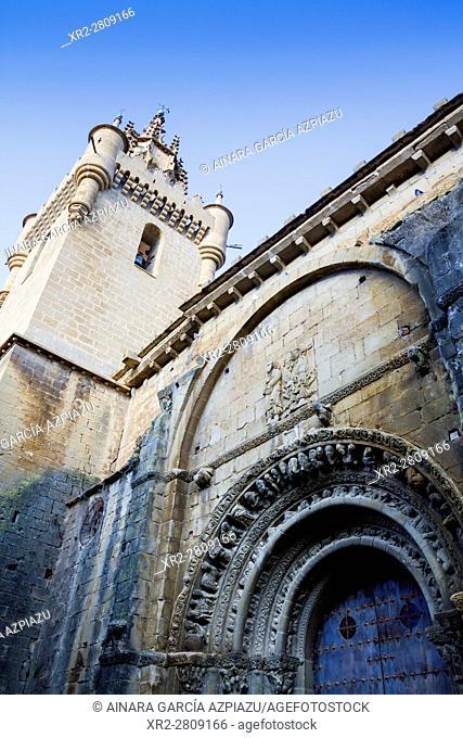 Santa María la Mayor church in Uncastillo, Aragon, Spain