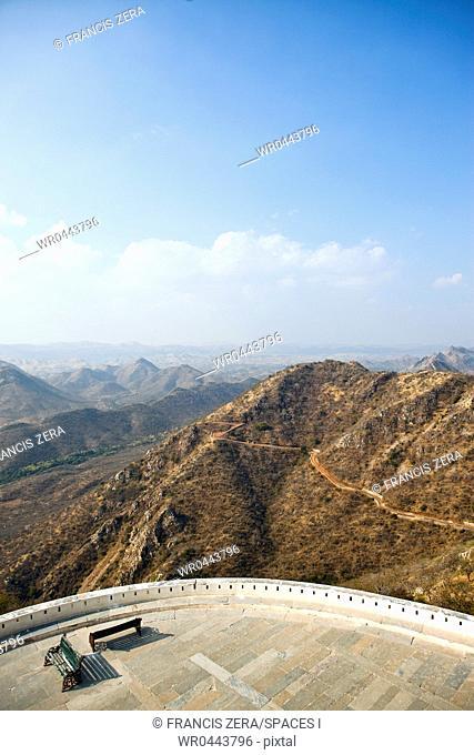 Aravalli Hills Seen From Monsoon Palace