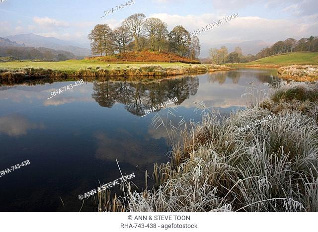 River Brathay in winter, near Elterwater, Lake District, Cumbria, England, United Kingdom, Europe