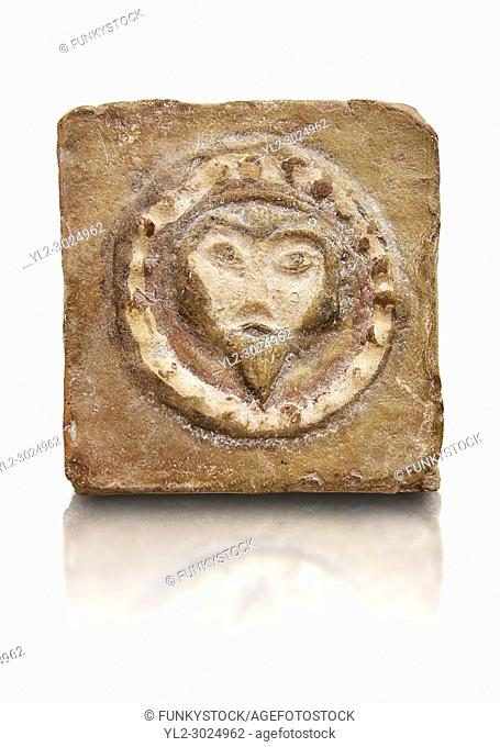 6th-7th Century Byzantine Christian Terracotta tiles depicting Christ - Produced in Byzacena - present day Tunisia. . . These early Christian terracotta tiles...