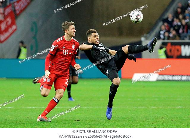 21 December 2018, Hessen, Frankfurt/Main: Soccer: Bundesliga, Eintracht Frankfurt - FC Bayern Munich, 17th matchday, in the Commerzbank Arena