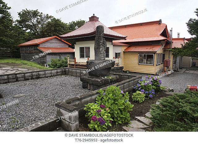 Shinto shrine at Oshidomari on Rishiri Island, Hokkaido, Japan
