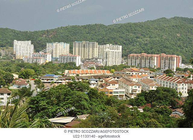 George Town, Penang (Malaysia): view of the city from the Kek Lok Si Temple
