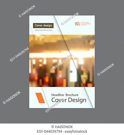 Annual report brochure flyer template A4 vector design, book cover layout design. Abstract color presentation templates