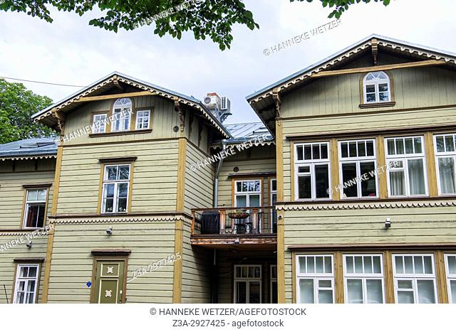 Traditional house in the Kadriorg neighborhood of Tallinn, Estonia, Europe