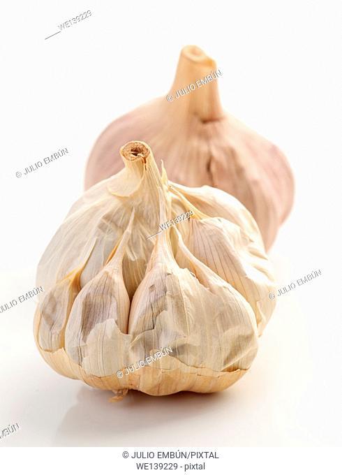 black heads of garlic