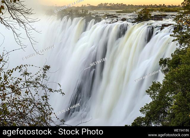 The Eastern Cataract. Victoria Falls. Livingstone. Zambia