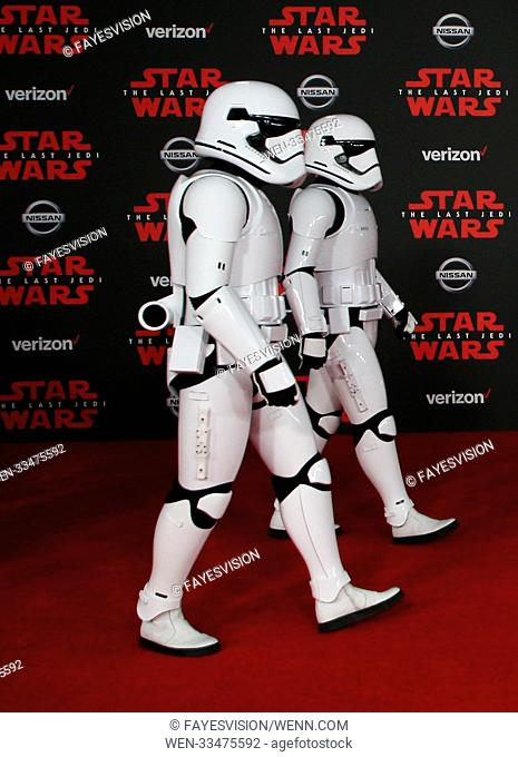 Premiere Of Disney Pictures And Lucasfilm's 'Star Wars: The Last Jedi' Featuring: Storm Troopers Where: Los Angeles, California
