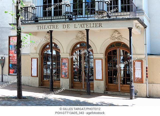 France, ile de france, paris, 18e arrondissement, place charles dullin, theatre de l'atelier, facade, rue d'orsel, Photo Gilles Targat
