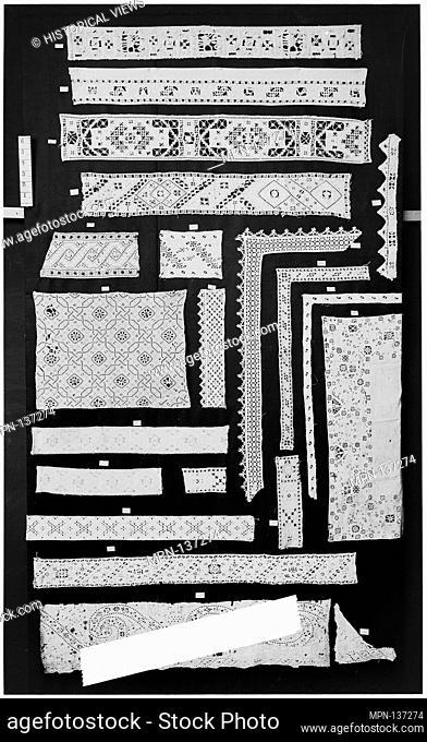 Strip. Date: 16th century; Culture: Italian; Medium: Cutwork; Dimensions: L. 28 x W. 5 inches; Classification: Textiles-Laces