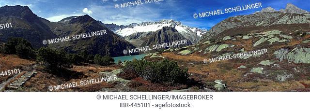 Panorama from the Hochmoor Goescheneralp, Uri, Switzerland