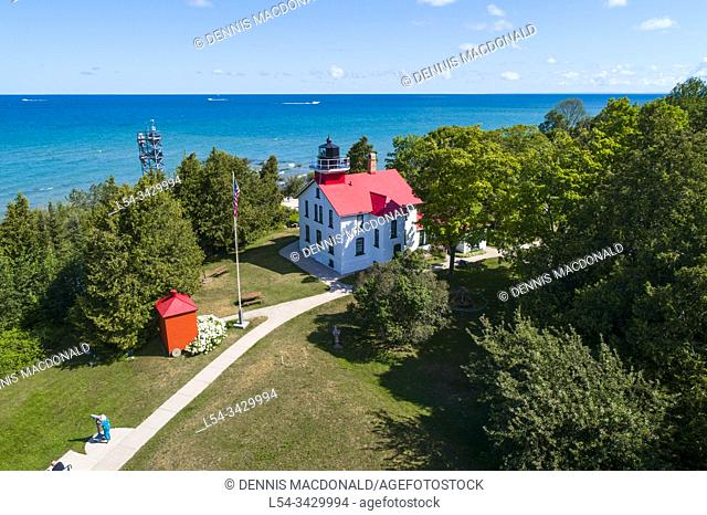 Grand Traverse Light is a lighthouse in the U. S. state of Michigan, located at the tip of the Leelanau Peninsula, which separates Lake Michigan and Grand...