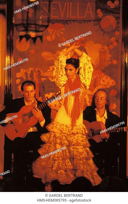 Spain, Andalusia, Sevilla, flamenco show