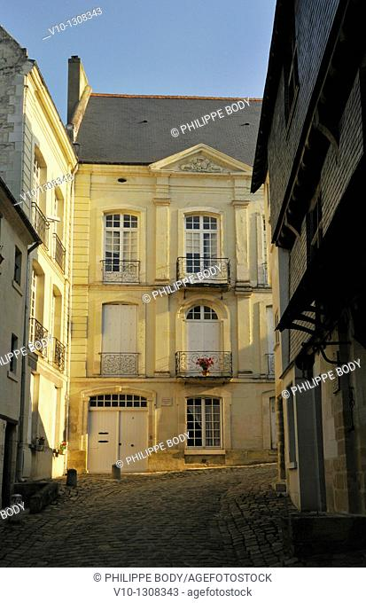 France, Indre et Loire, Loire Valley on the World Heritage List, old town of Chinon