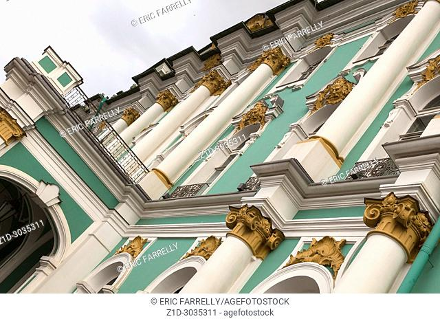 exterior architectural column Hermitage St Petersburg Russia