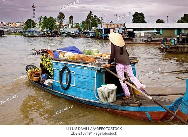 Cai Rang floating market.vietnam