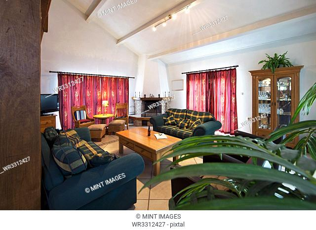 Sofas and coffee table in living room