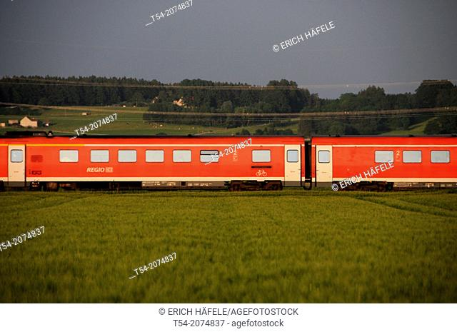 Regional train of Deutsche Bahn AG