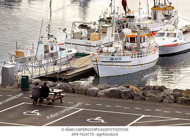 Fishing port of Husavik, Husavik, Iceland