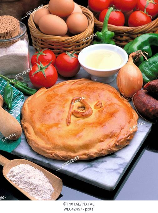 Galician 'empanada', stuffed pastry