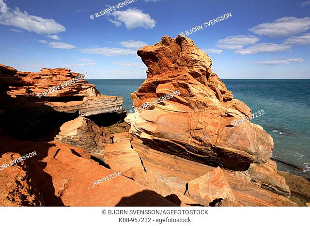 Rock formations at Gantheaume Point.  Broome, Western Australia