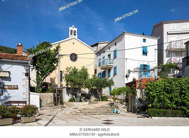 Church of Saint Mark, Valun, Island of Cres, Kvarner Bay, Croatia