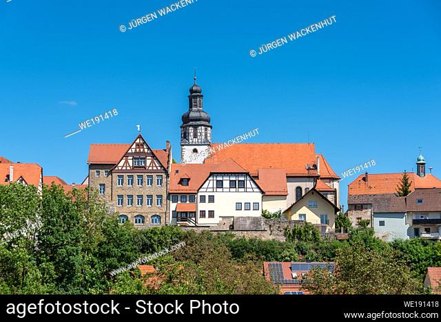 View to the St Martin church, Gochsheim, Baden-Wurttemberg, Germany, Europe