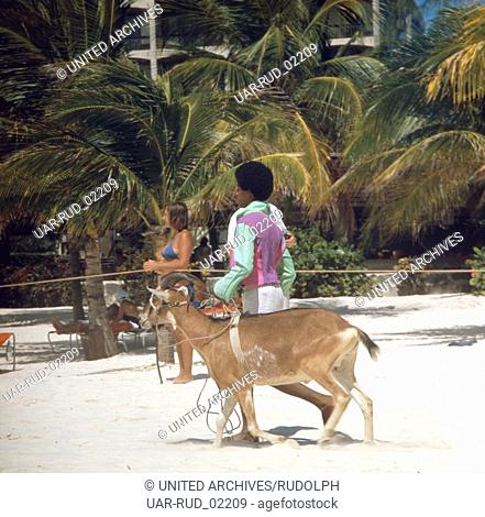 Reise in die Karibik, 1970er Jahre. Journey to the Caribbean, 1970s