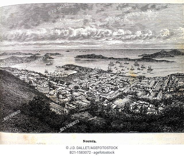 History-France- ' Nouméa'  Nouméa is the capital city of the French territory of New Caledonia  It is situated on a peninsula in the south of New Caledonia's...