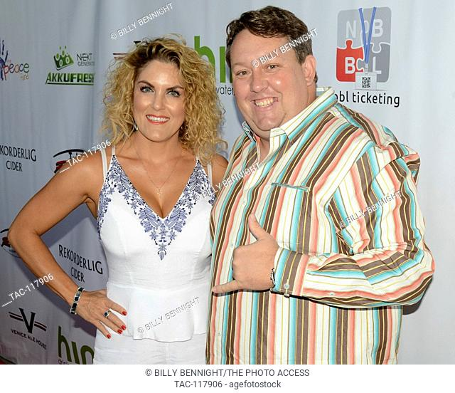 Renee Nezhoda and Casey Nezhoda arrives at the Peace Fund's 2nd Annual Celebrity Poker Tournament at the Reserve Playa Vista, CA