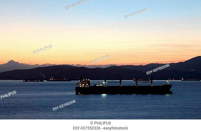Ships at the coast of Algeciras, Andalusia Spain