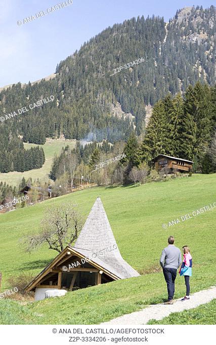 Alpbach Kufstein district Tyrol Austria on April 17, 2019