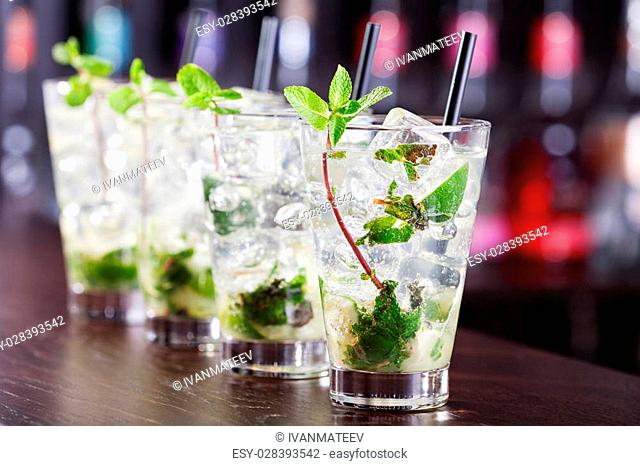 Ingredients:3 fresh mint sprigs2 tsp sugar3 tbsp fresh lime juice1 1/2 oz light rumclub soda