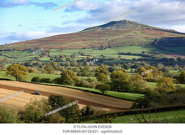 Autumnal view of Clee Hill from Hopton Cangeford, Ludlow, Shropshire